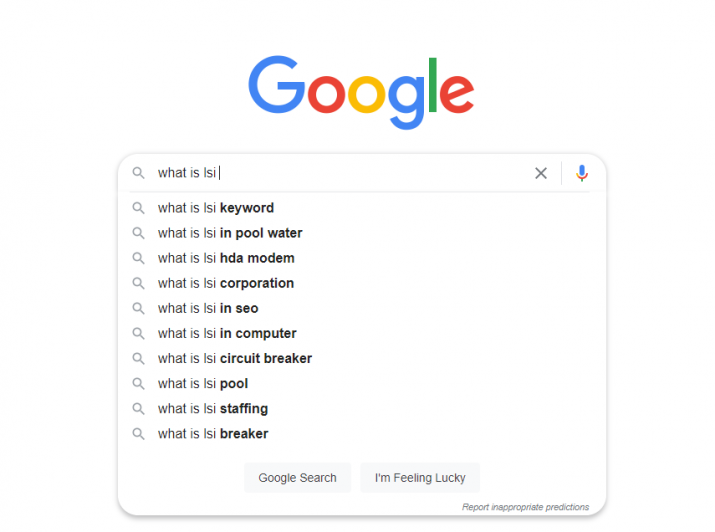 Using Google Autocomplete to find LSI keywords