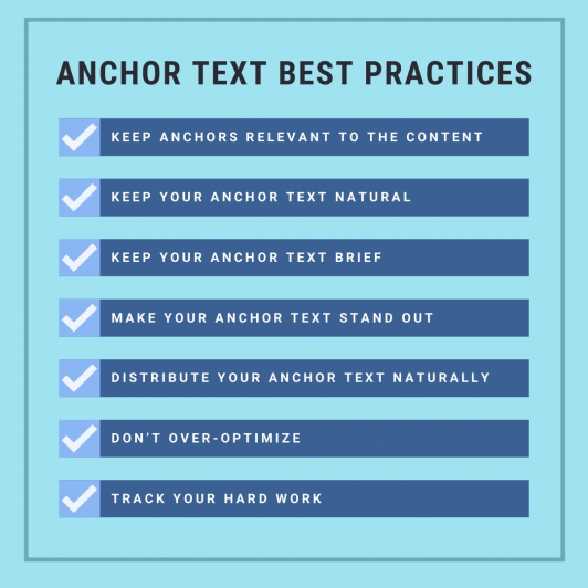 Anchor text strategy checklist to boost your SEO
