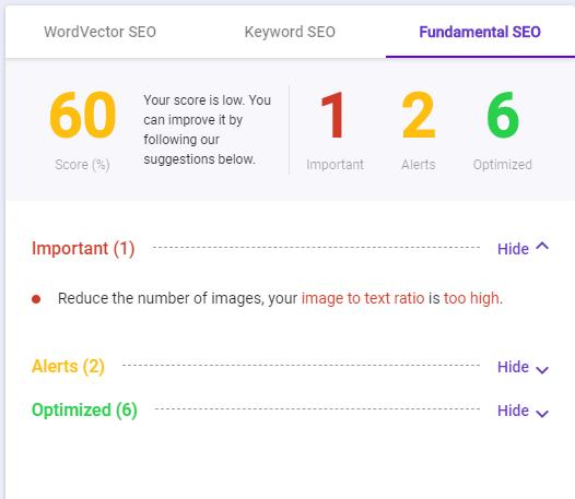 best free seo tool BiQ content intelligence word fundamental SEO