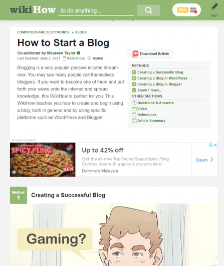blog post examples wikihow