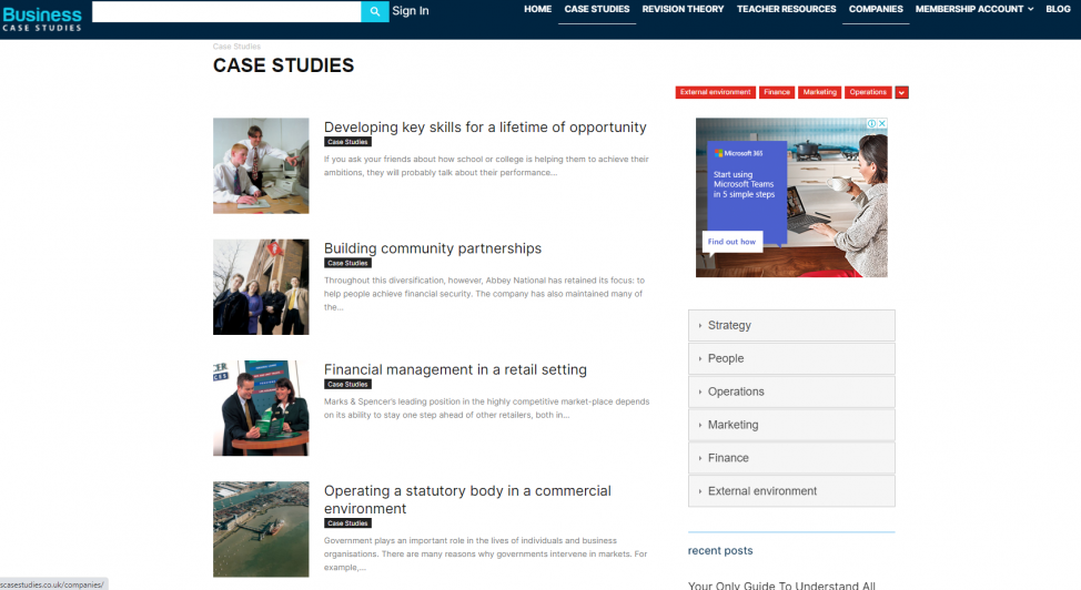 blog post examples Business Case Studies