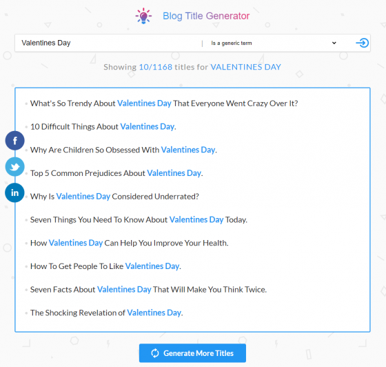 Use Blog Title Generator to get all the trendy headlines and create viral content!
