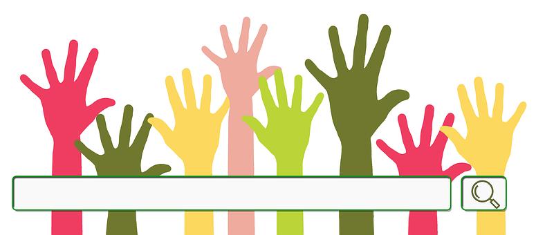 Description: Volunteers, Hands, Voluntary, Search