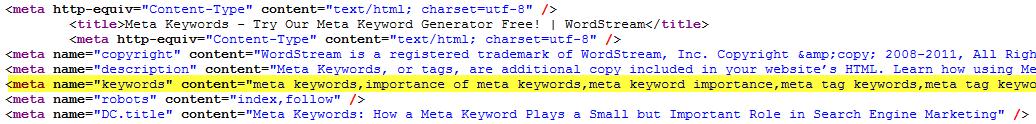 meta-keywords-example