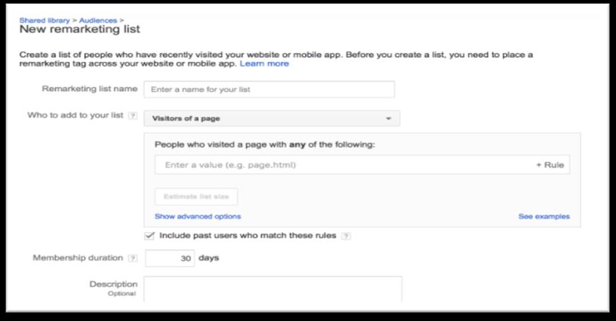 google remarketing tag