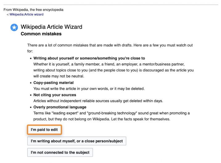 wikipedia article wizard - common mistakes