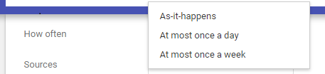 google alerts frequency