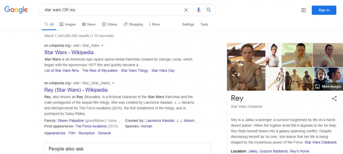 advanced google search techniques - OR