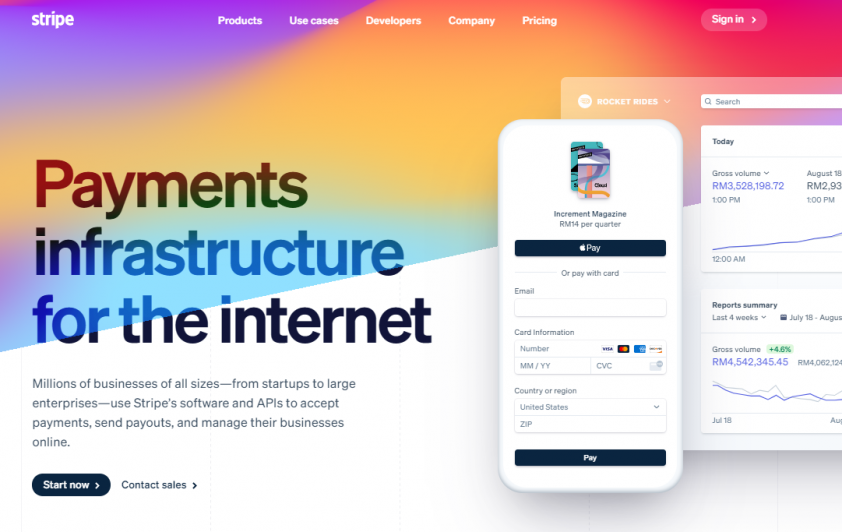 consumer to business example - Stripe