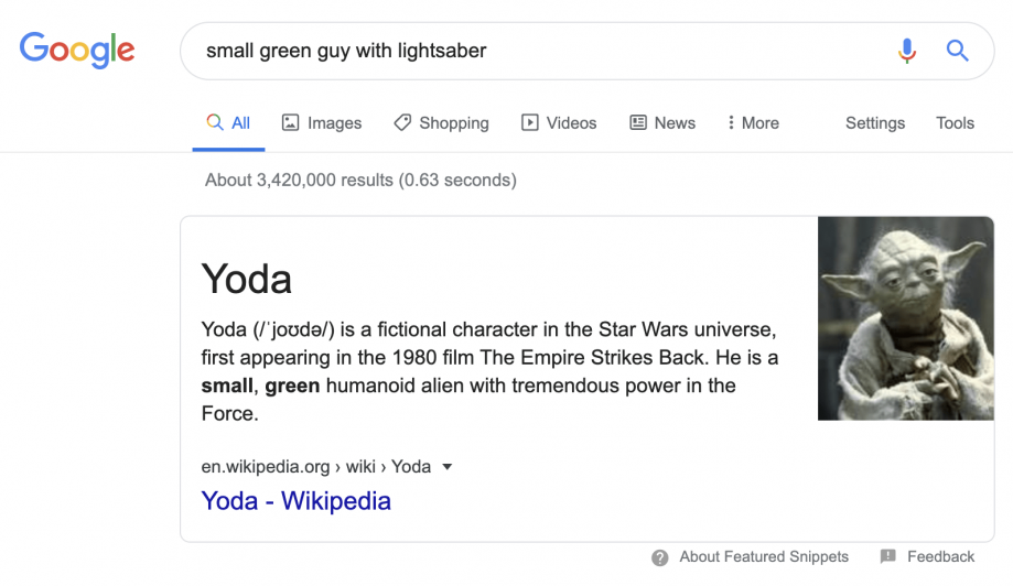 Description: small green guy with lightsaber