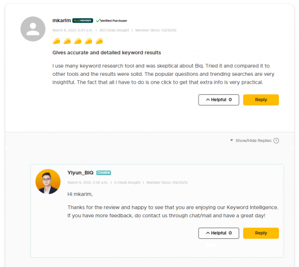 online reputation management - respond to review