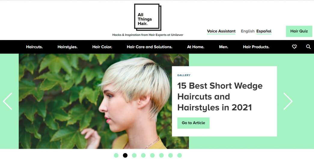 Content hub example 2 - all things hair