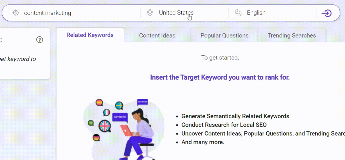Free keyword research tool to find local SEO keyword
