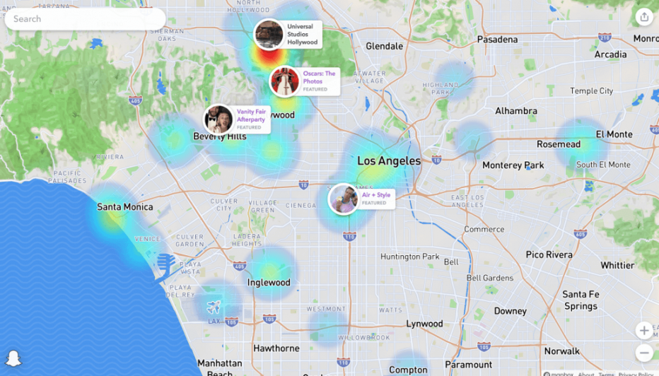 examples of social proof through snapchat snap maps