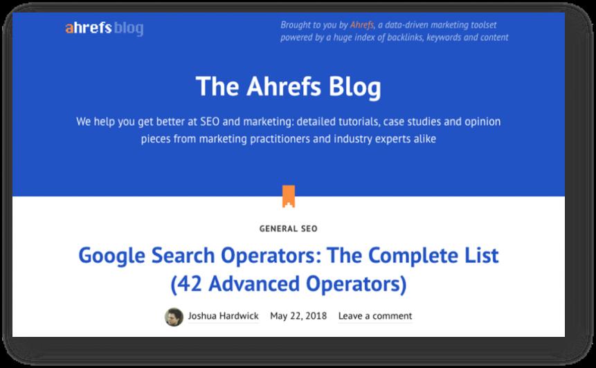 best seo blogs - ahrefs