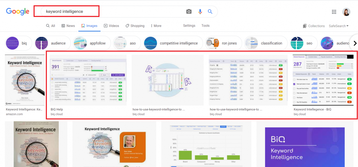 With Alt text done right, you will see them appear on Google search image tab