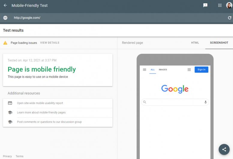 Free Google Tools 9 - Google Mobile-Friendly test