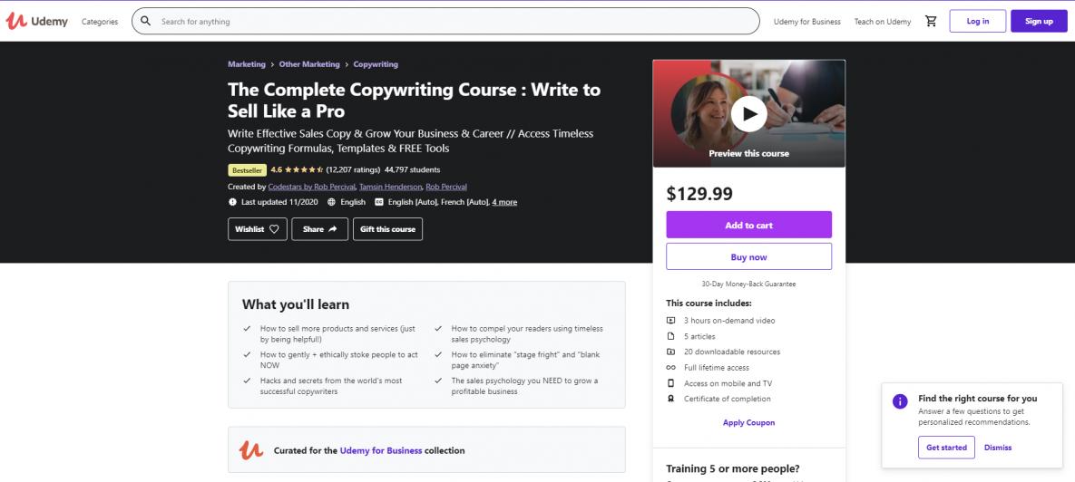Copywriting courses online