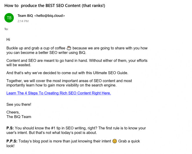 email list building strategies - subscribers only content example