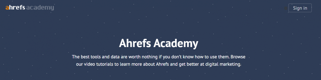 free digital marketing courses - Ahrefs Academy