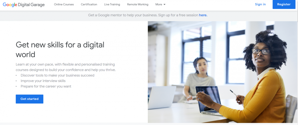 free digital marketing courses - Google Digital Garage