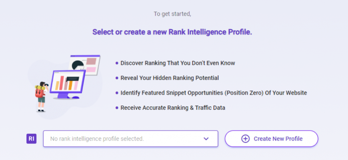 Create Rank Intelligence profile