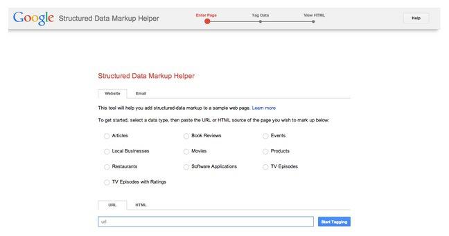 Google's Structured Data Markup Helper