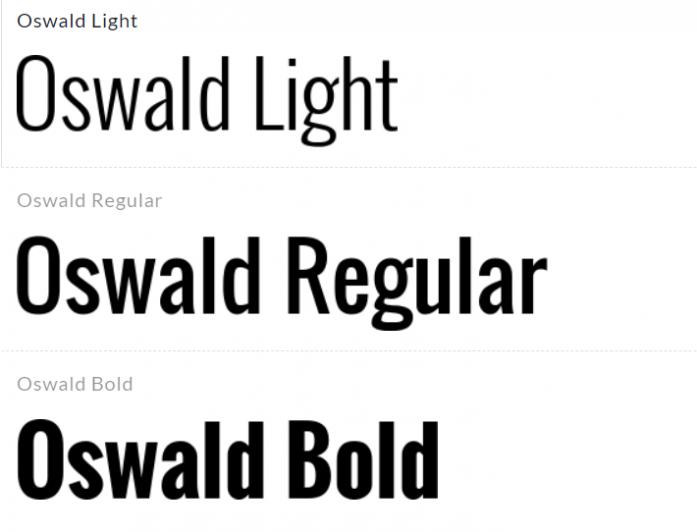 Best fonts for website - oswald