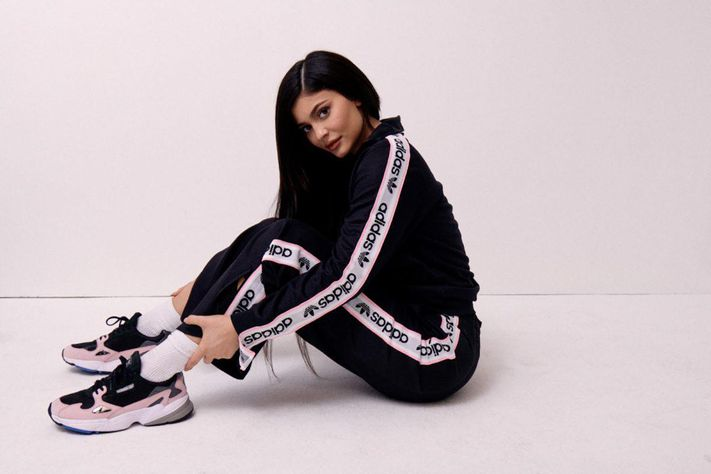 Kylie Jenner doing influencer marketing on Adidas