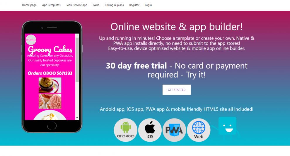 Zappii website & app builder