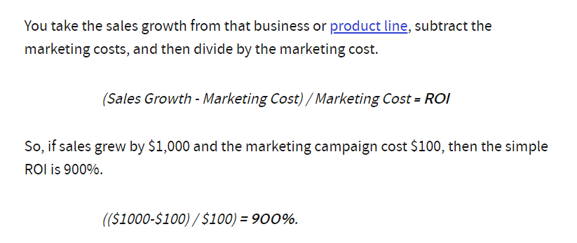 Campaign ROI in email marketing