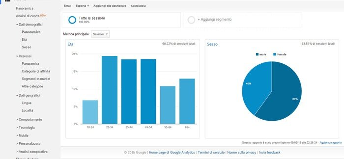 Use Google Analytic to build buyer persona