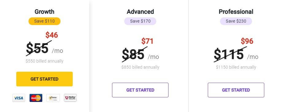 Pricing page best practices is to Emphasize on Discounts