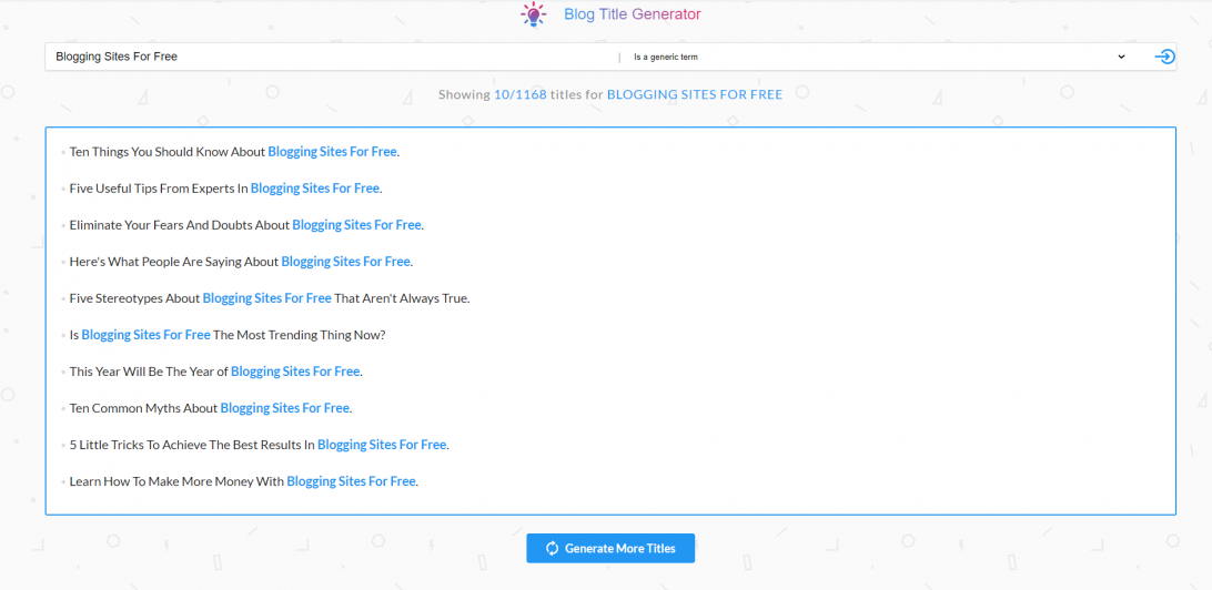 blogging tools for brainstorming ideas - SEOPressor Title Generator