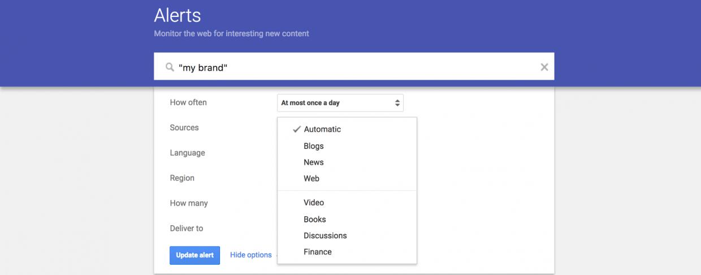 Link building tools - Google Alerts