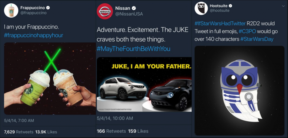 Personalized marketing from brands on Star Wars