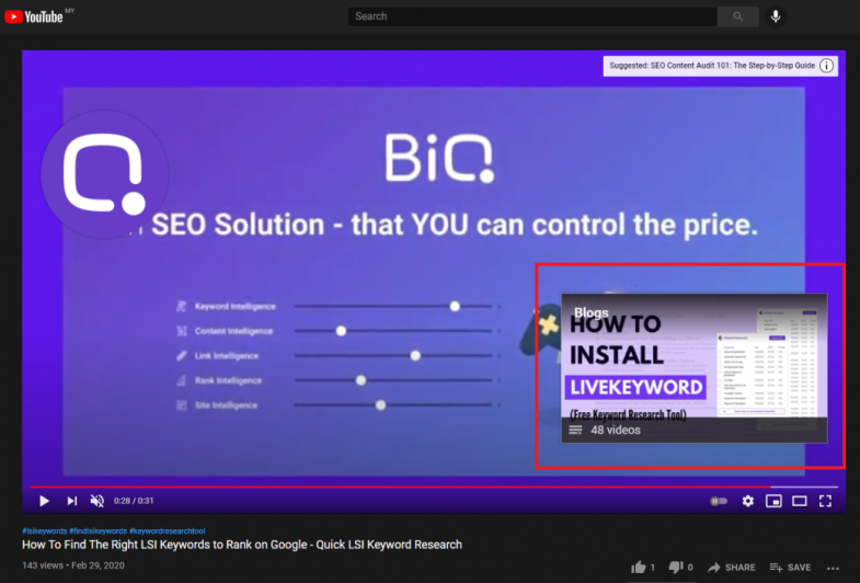 Youtube video end screen features a link to other video or a subscribe button