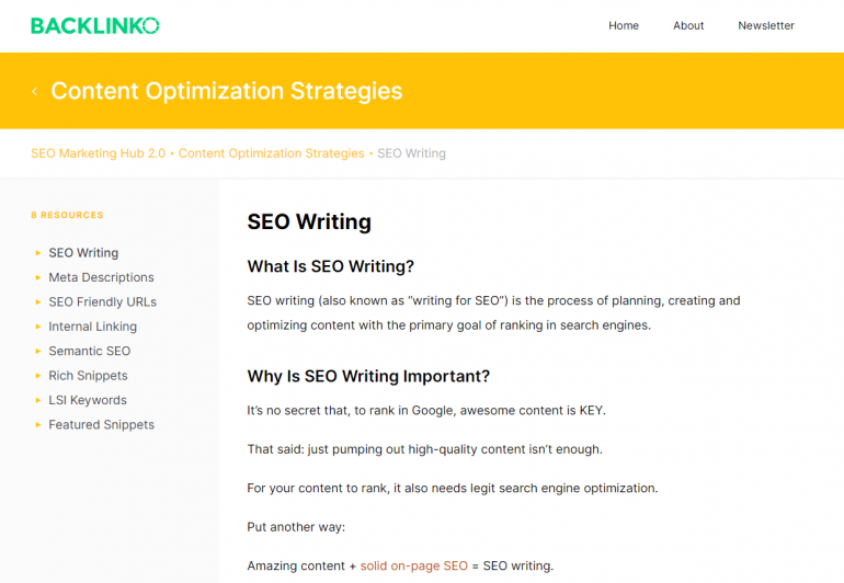 Most websites advocates writing for SEO