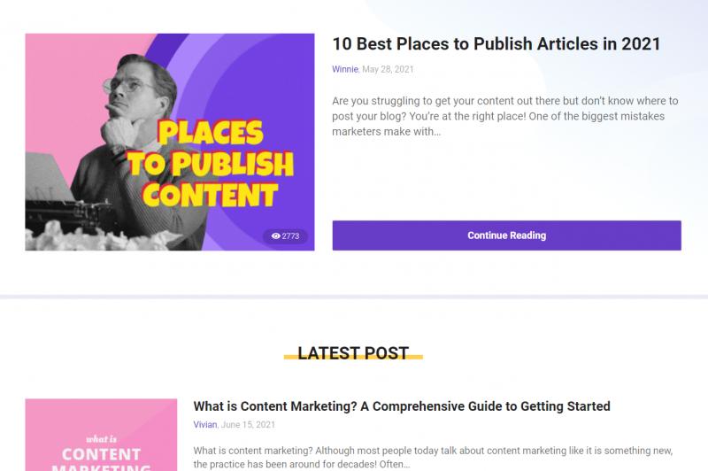 BiQ blog content