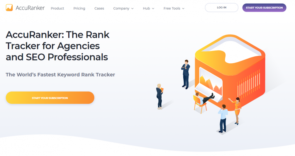 The second keyword ranking tool is AccuRanker
