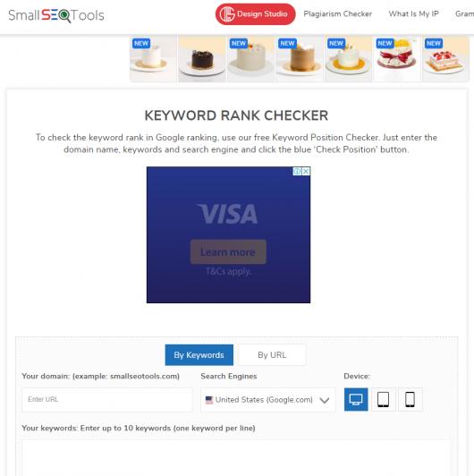 The seventh keyword ranking tool is Small SEO Tools (Keyword Position)
