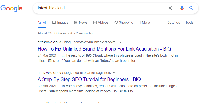 how to find unlinked brand mentions using Google