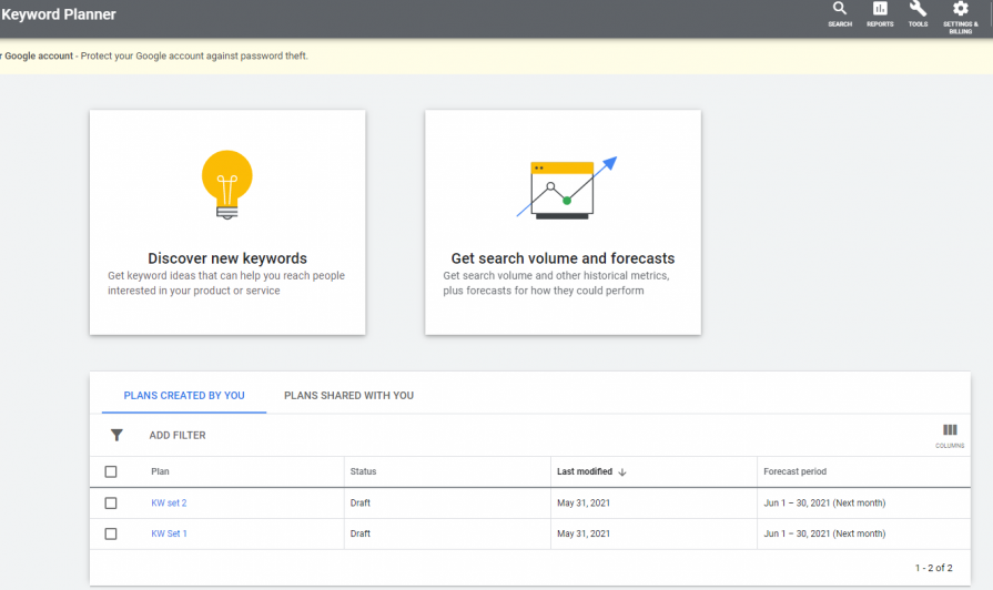 Google keyword planner is also a good keyword research tool