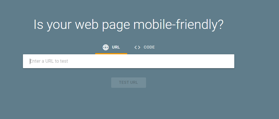 Use Google Mobile friendly