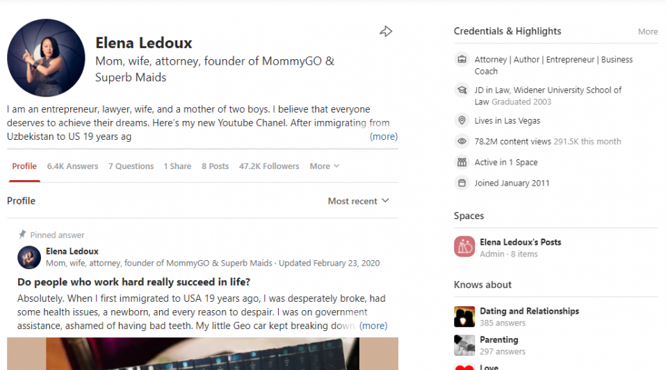 Best practices on using Quora marketing - create a perfect profile