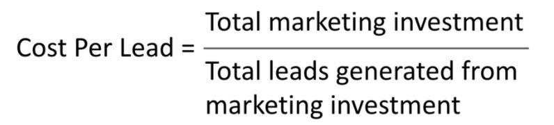 content marketing kpi - cost per lead