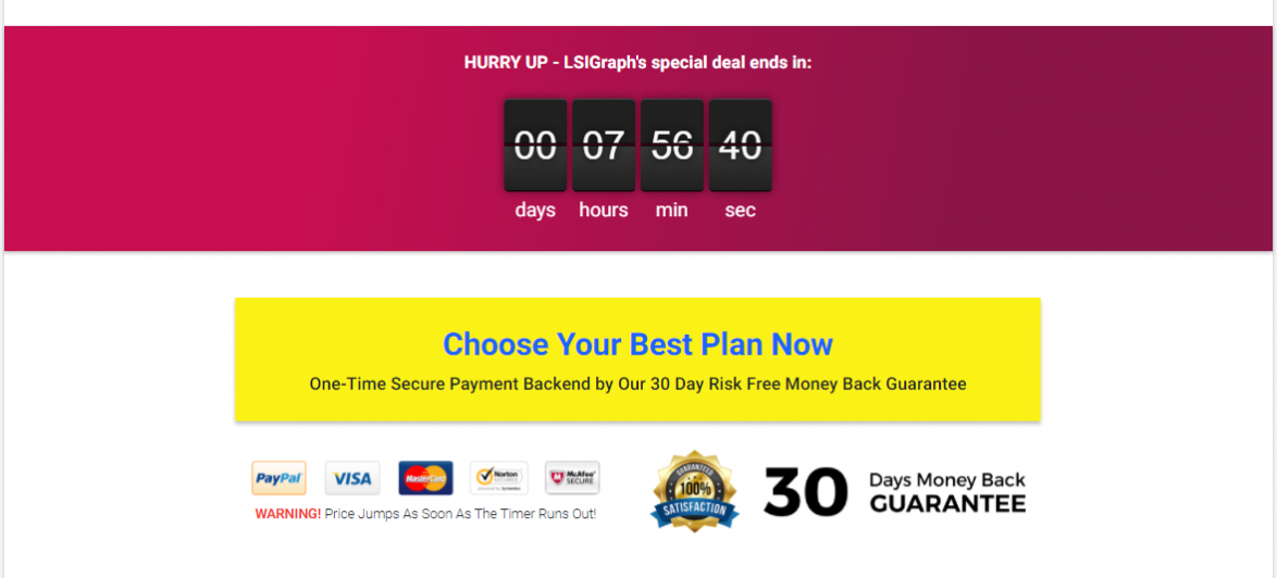 A landing page should have a cta button at the top