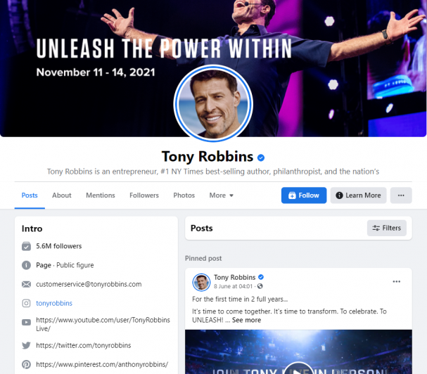 Using the power of influencers like Tony Robbins is another way to generate traffic