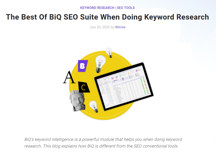 An example of blog post from BiQ Blog