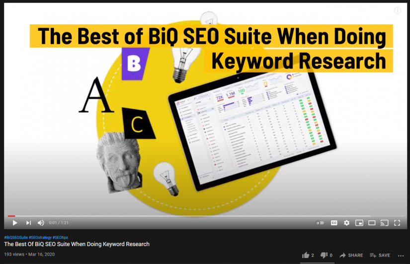 A BiQ blog article that is repurposed into a video